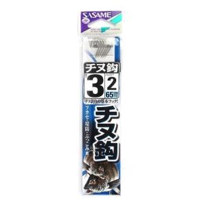 ささめ針(SASAME) チヌ鈎 AA301 針3号-ハリス2号 白