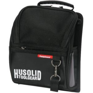 ペンギンエース HUSOLID TOOLGEAR フタ付き腰袋 L HT005