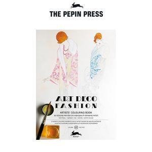 塗り絵 大人 塗絵 ペピン プレス カラーリングブック M 16pcs   アールデコ ファッション  CB-M-008 |p-s