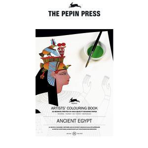塗り絵 大人 塗絵 ペピン プレス カラーリングブック M 16pcs   エジプト CB-M-013 |p-s