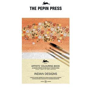 塗り絵 大人 塗絵 ペピン プレス カラーリングブック M 16pcs インディアン デザイン  CB-M-017|p-s