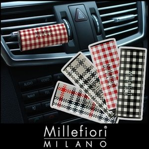 millefiori カーエアフレッシュナー 車用 芳香剤 / チェックシリーズ |p-s
