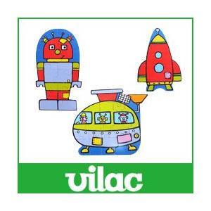 知育玩具 木 おもちゃ パズル  ロボット VILAC  ヴィラック |p-s