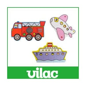 知育玩具 木 おもちゃ パズル  トランスポート VILAC  ヴィラック 乗り物  プレゼント 誕生日|p-s