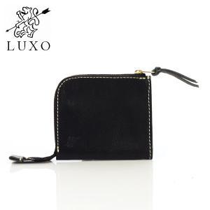 財布 二つ折り 日本製 革 レザー ブラック LXOC-001BLK 革財布 LUXO ルシオ|p-s