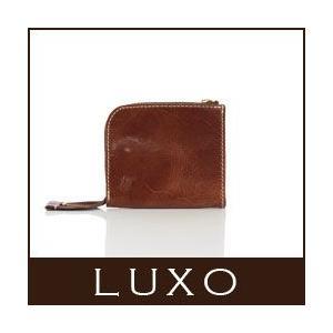 財布 二つ折り 日本製 革 レザー  ブラウン LXOC-001BRN 革財布 LUXO  ルシオ|p-s