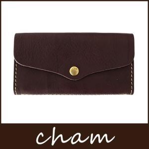 cham チャム BREATH ブレス ブラウンFLAP LONG WALLET /  LXVO-001 BRN|p-s