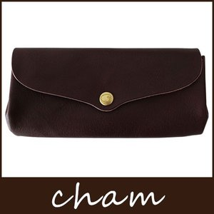 cham チャム BREATH ブレス ブラウン PLUMP WALLET / LXVO-002 BRN|p-s