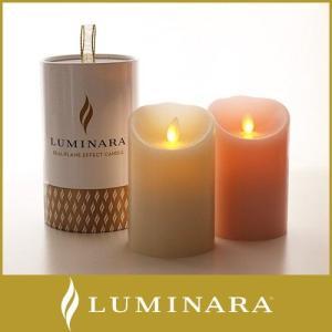 キャンドル LED ライト ルミナラ ピラー Sサイズ 3×4 WHITE box ローズの香り|p-s