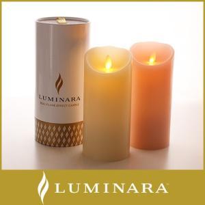 キャンドル LED ライト ルミナラ ピラー Mサイズ 3×6 WHITE box ローズの香り|p-s