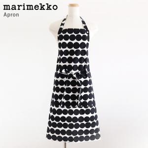 マリメッコ エプロン Rasymatto ラシィマット  / ブラック・ホワイト|p-s