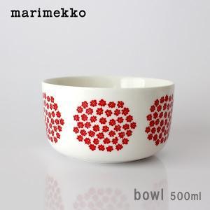ボウル マリメッコ Puketti プケッティ Bowl 500ml ホワイト×レッド|p-s