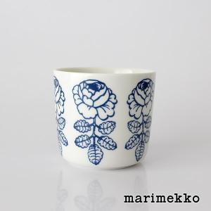 ラテマグ 単品 マリメッコ VIHKIRUUSU ヴィヒキルース  ホワイト×ブルー