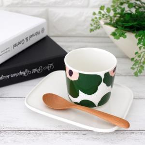 ラテマグ 単品 マリメッコ Unikko ウニッコ コーヒーカップ ハンドルなし ホワイト×グリーン×ピーチ|p-s|08