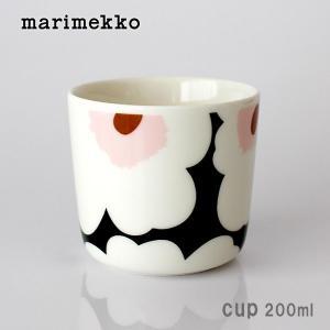 ラテマグ 単品 マリメッコ Unikko ウニッコ コーヒーカップ ハンドルなし ホワイト×グリーン×ピンク|p-s
