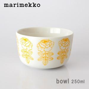 ボウル マリメッコ Vihkiruusu ヴィヒキルース Bowl 250ml ホワイト×イエロー|p-s