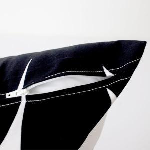 メール便 可 クッションカバー 45×45cm マリメッコ Pieni Unikko ピエニ ウニッコ ホワイト&ブラック 中綿なし|p-s|05