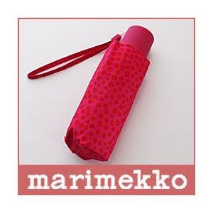 折りたたみ 傘 コンパクト マリメッコ ピルプト パルプト ピンク×レッド 手動|p-s