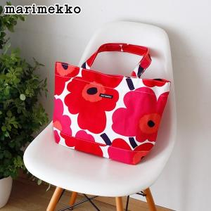 トートバッグ マリメッコ Japan Unikko Bag ウニッコ バッグ ホワイト×レッド|p-s