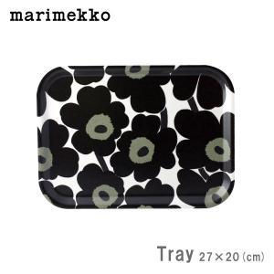 マリメッコ ミニトレイ Plywood tray ウニッコ / ブラック|p-s