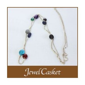 ネックレス Jewel Casket  天然石 ダークカラー p-s