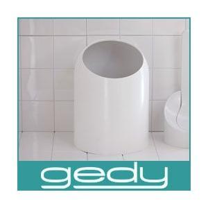 ゴミ箱 トイレ ゲディ gedy ウエストバスケット Waste Basket ホワイト|p-s
