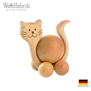 木製雑貨 置物 ヴァルトファブリック社 Waldfabrik ころころ アニマル ネコ p-s