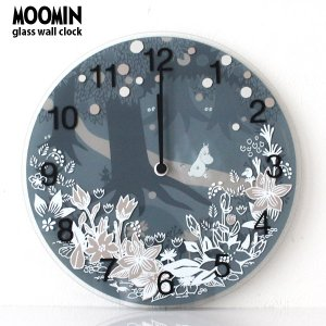 MOOMIN ( ムーミン ) ガラス ウォール クロック 壁掛け 時計 「 Moomin in the Forest 」 ( ムーミンタイムピーシーズ )|p-s