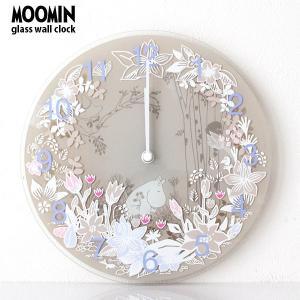 MOOMIN ( ムーミン ) ガラス ウォール クロック 壁掛け 時計 「 Moomin Picking Flowers 」( ムーミンタイムピーシーズ )|p-s