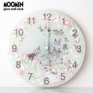 MOOMIN ( ムーミン ) ガラス ウォール クロック 壁掛け 時計 「 Little My Chasing 」 ( ムーミンタイムピーシーズ )|p-s