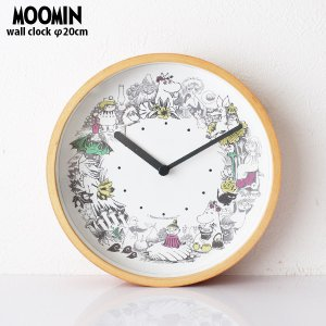 MOOMIN ( ムーミン ) 木枠 ウォールクロック 壁掛け時計 「 リースカラー 」 ( ムーミンタイムピーシーズ )|p-s
