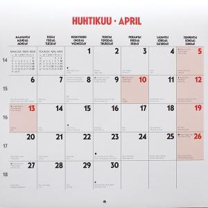 ムーミン 2020年  ウォールカレンダー 30×30cm|p-s|06