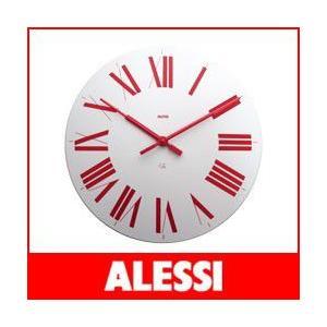 掛け時計 おしゃれ アレッシィ フィレンツェ ホワイト・レッド ALESSI Firenze |p-s