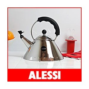 笛吹きケトル ALESSI  アレッシィ バードケトル やかん / ブラック|p-s
