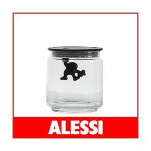 キャニスター アレッシィ  ジャンニ GIANNI キッチンボックス Sサイズ ブラック|p-s