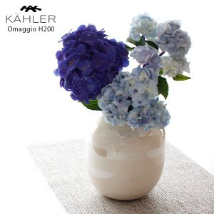 花瓶 KAHLER ケーラー OMAGGIO オマジオ フラワーベース Mサイズ H200 パール|p-s