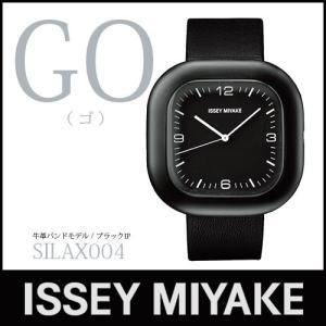 ISSEY MIYAKE 腕時計 「GO / ゴー」 SILAX004 牛革バンド / ブラックIP p-s