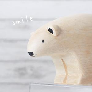 polepole ぽれぽれ 木製 置物 ぽれぽれ動物 BIG シロクマ 数量限定 |p-s|08