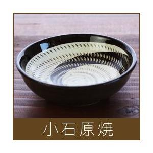 小石原焼  小鉢 / 白×黒うず|p-s