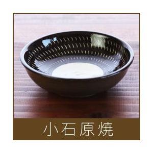 小石原焼  小鉢 / 黒×うち白|p-s