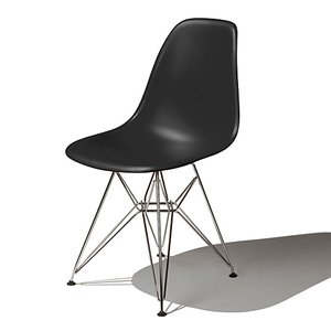 Eames / イームズ Shell Chair Side Chair(DSR)/ブラック|p-s