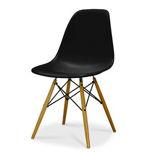 Eames / イームズ Shell Chair Side Chair(DSW)/ブラック|p-s