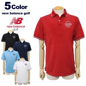 817d80f267855 ニューバランス ゴルフウェア ポロシャツ メンズ 半袖 カノコ 吸汗速乾 newbalance 012-9160008 2019春夏 セール