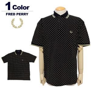 フレッドペリー ポロシャツ メンズ 半袖 ゴルフ 鹿の子 ドット柄 FREDPERRY F1750 ...
