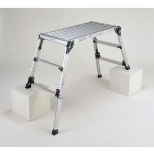 四脚アジャスト式足場台 脚アジャストで高さが調整できる DWX-W6908C (  作業台 足場台 ...