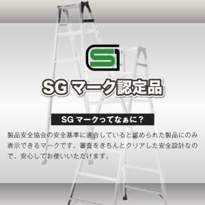 スタンダードタイプのはしご兼用 脚立 (2段) K-60D  送料無料 代引手数料無料 p-star 04