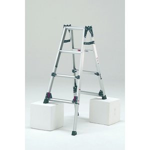 はしご兼用脚立 KS-120A   最大段差が約31cmまで対応可能   脚立 4段 アルミ 軽量 送料無料 p-star