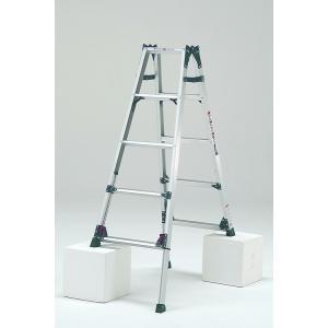 はしご兼用脚立 KS-150A   最大段差が約31cmまで対応可能   脚立 5段 アルミ 軽量 送料無料 p-star