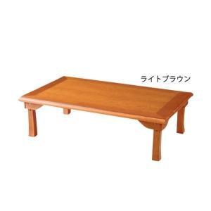 簡単折りたたみ座卓/ローテーブル 〔2: 幅120cm〕木製 ライトブラウン|pacific