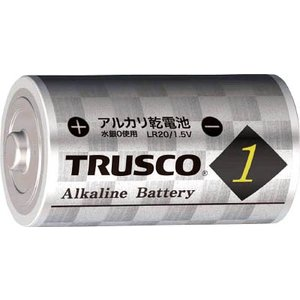 TRUSCOアルカリ乾電池 単1 10個入り TLR20G-P2S|pack-mate